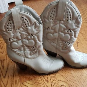 Cowgirl boots with a heel